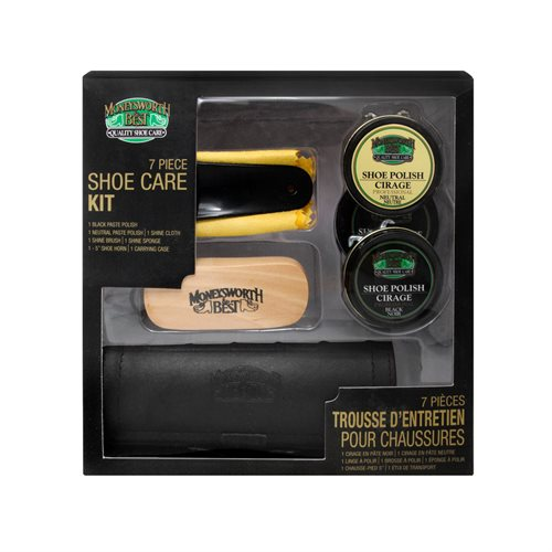 7 PC SHOE CARE KIT - ASSORTED COLOUR CASES